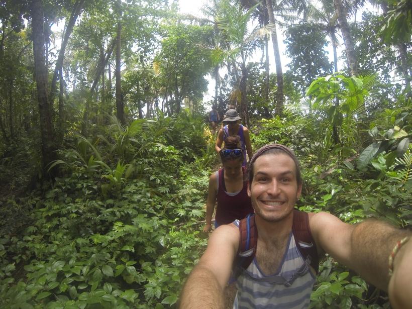 Hiking through the jungle in Manzanilo, Costa Rica.