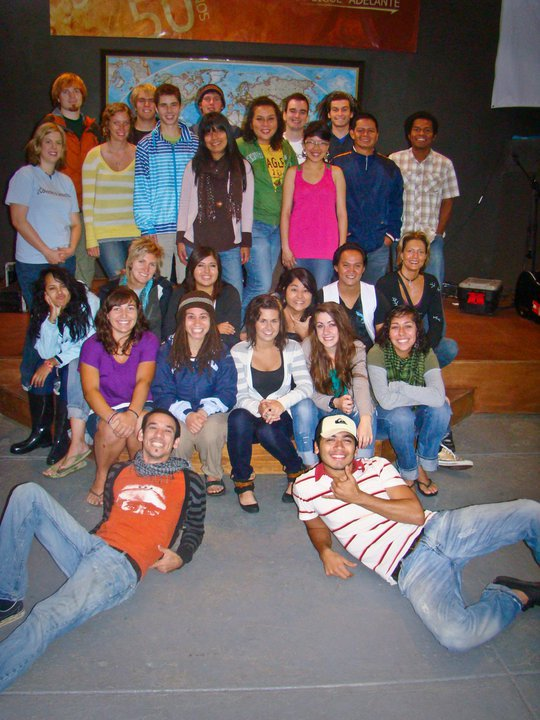Ryan and I with our DTS when we first came four years ago. Before we knew what we were getting ourselves into! (Ryan's in the back with dreads, I'm in the front wearing purple.)