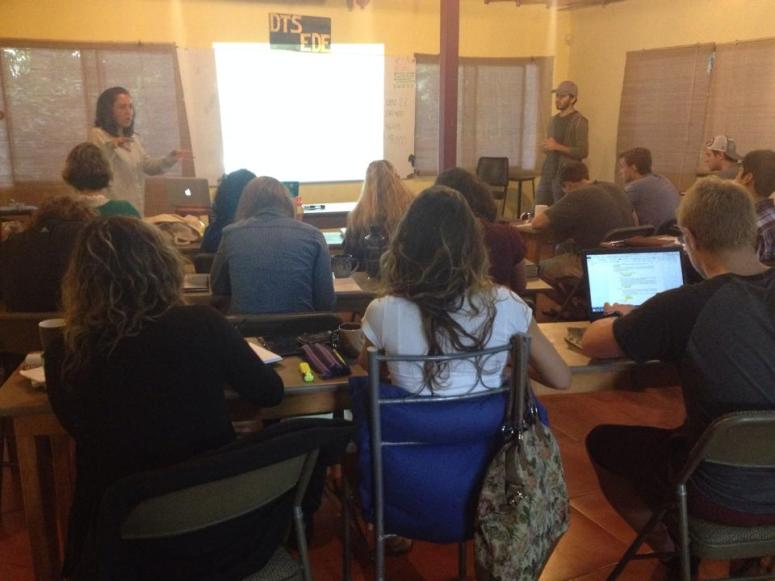 Nicole teaching the class on relationships this past week in the DTS here in San Jose