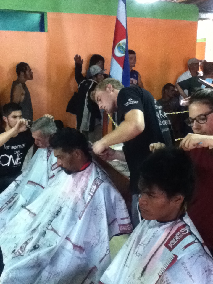 Station 2 was haircutting. We had 3 people buzzing and cutting hair for the homeless