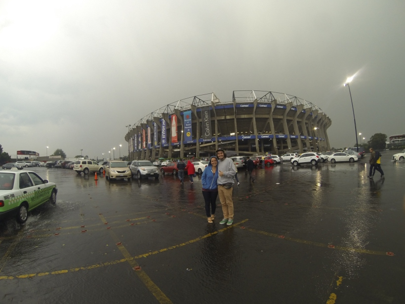 Outside of Azteca, the third largest fútbol stadium in the world.