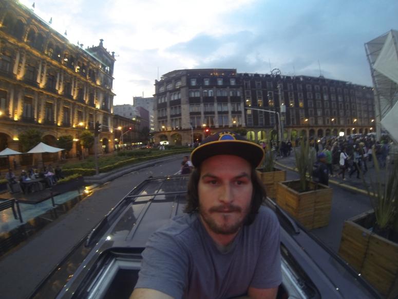 Exploring downtown México City after the game.