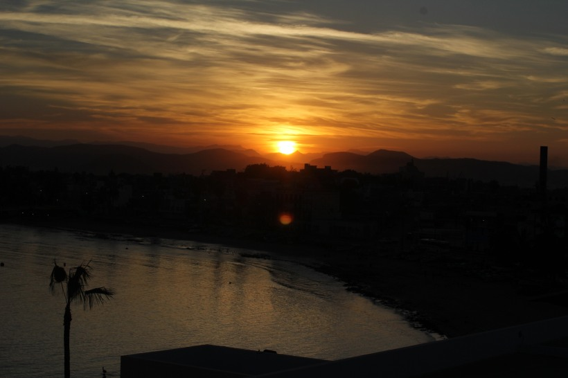 Sunrise from the roof of YWAM Mazatlán on our first morning.