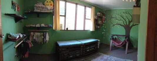 I was thrilled that they finished up all the furniture for Liv's room!